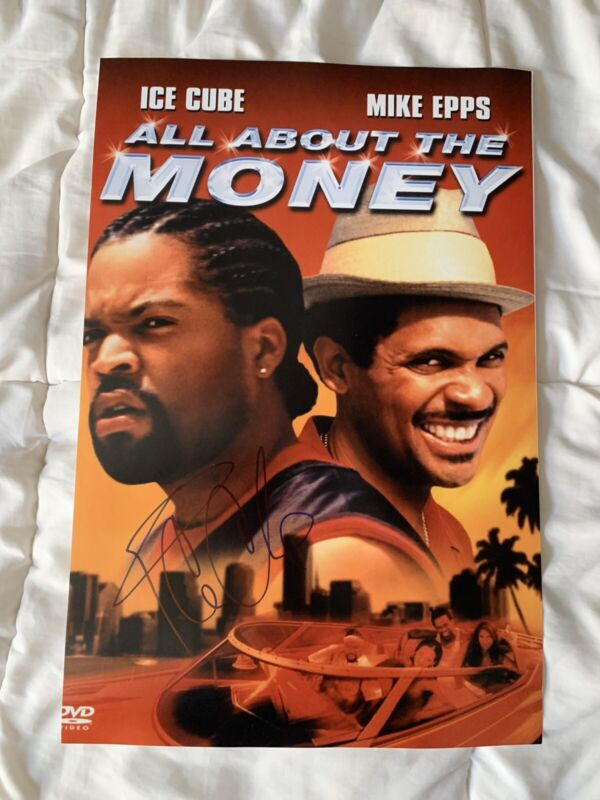 Ice Cube Signed Poster Autographed 12 X 18 All About The Benjamin's