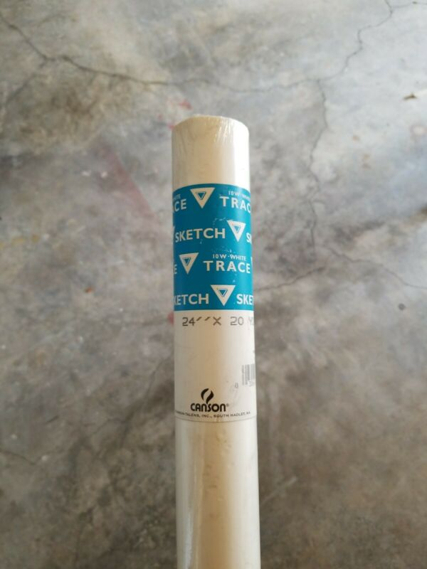 "Canson - Sketching and Tracing Paper Roll . - White - 24"" x 20 yds."