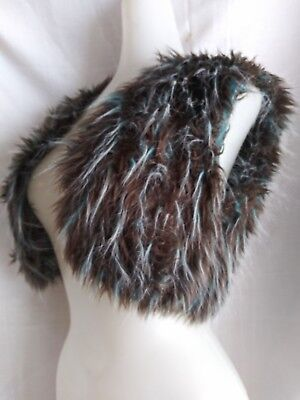 Handmade Faux Fake Fur Vest For Costuming Cosplay Halloween Fashion - Fur Vest Halloween Costume