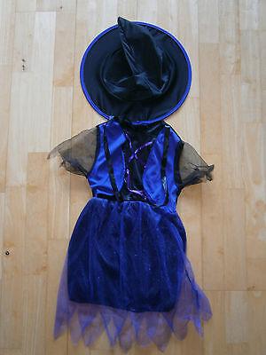 2teiliges Kostüm Hexe 6-7 Jahre Halloween Fasching/Karneval neu und ungetragen