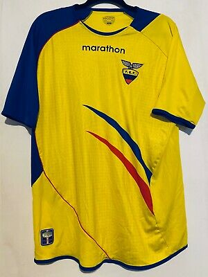 Marathon Ecuador 2006 FEF World Cup Soccer Jersey Shirt Mens Size Large image