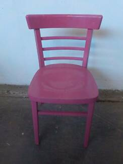 B16069 Single Pink Timber Kitchen Dining Bedroom Chair Mount Barker Mount Barker Area Preview