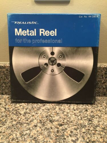 "REALISTIC  7"" METAL TAKE UP REEL - FOR REEL-TO-REEL W/ Box"