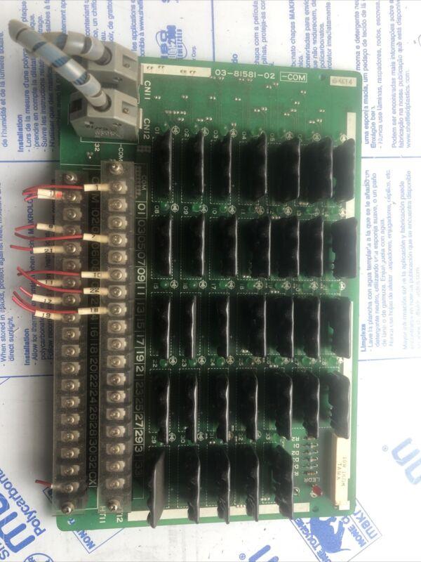 MITSUBISHI MAZAK 03-81581-02 - Com Card PCB Circuit Board Controller Card Used