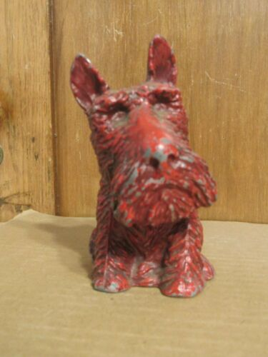 Old Red Sitting Scottie Dog Bank