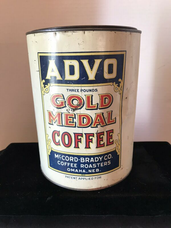 VINTAGE COFFEE TIN-ADVO-OMAHA NEBRASKA