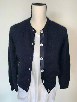 ⭐️ WOMENS A.P.C. NAVY BLUE CARDIGAN WOOL ANGORA  SWEATER