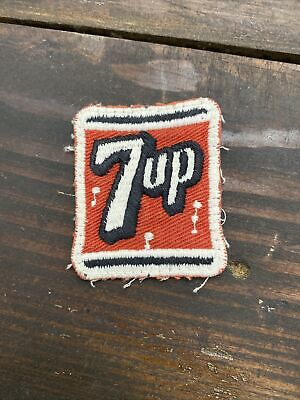 """Vintage Early 7 Up Soda Pop Hat or Shirt Patch Embroidered 2"""" Advertisement"""