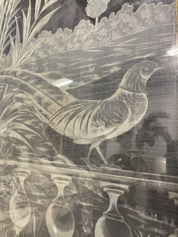 Art Deco Etched Glass Parlor Door 85x30