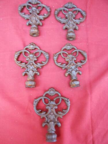 Vintage Lot of 5 Cast Iron Ornamental Finials #1