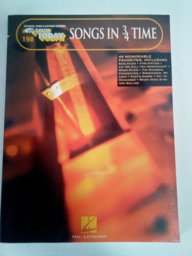 EZ Play Today #198 Songs in 3/4 Time Sheet Music Song Book Piano Organ 1975