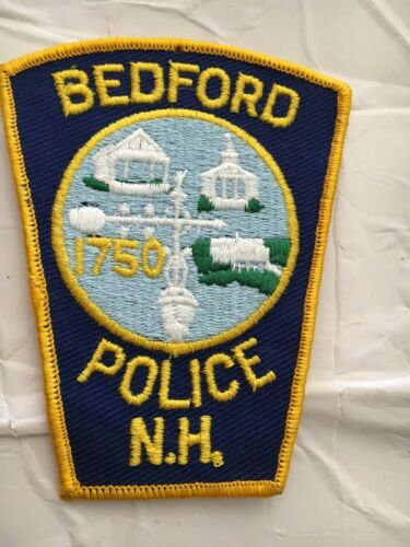 Bedford  New Hampshire Vintage Police Patch version 2