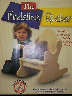 GRANDMOTHER CHILD PUZZLE ROCKER / KID ROCKING CHAIR NIB WOOD - Rocker Child