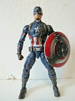 "Marvel Legends Civil War 3 Pack Damage Shield Captain America 6"" Action Figure"