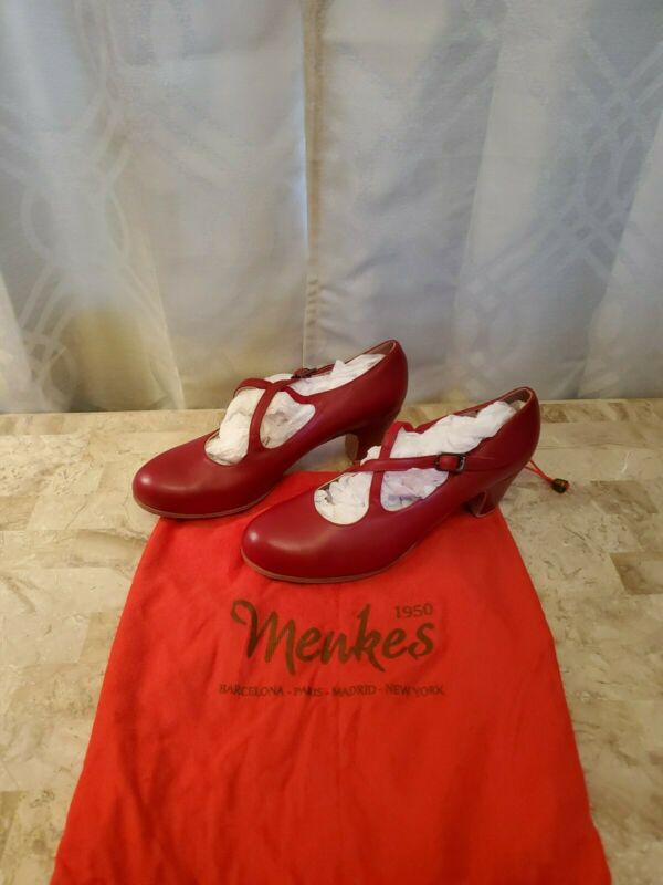 Authentic Menkes Red Flaminco Dance Shoes
