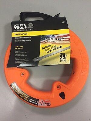 Klein Tools 25 Steel Fish Tape 56005 W Descending Laser Markings