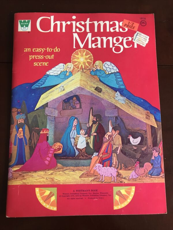 Vintage Nativity Manger Set Whitman Press Punch Out 1972 Christmas Unused New