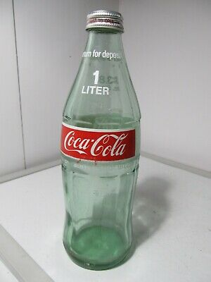 Vintage 1970s' Coca-Cola 1Liter/33.8 ozs. Soda Glass Bottle