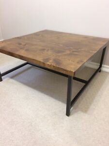 Rustic industrial handcrafted modern coffee table