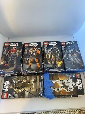 Lego Star Wars Buoldable Figures Disney Lot Of 6 75525 75115 76114 +3 Bonus Kits