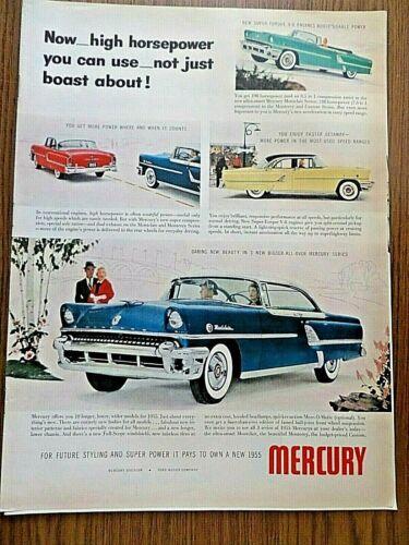 1955 Mercury Montclair Ad  High Horsepower 1955 Mosler Safe Ad Paris Vacation