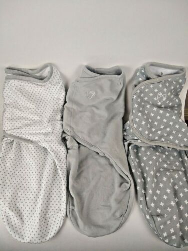 SwaddleMe Original Swaddle Gray and White S/M 3 Pieces 100% Cotton