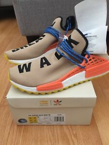 """SIZE 10.5 US : PW HUMAN RACE NMD TR """"PALE NUDE"""" OG ALL!"""