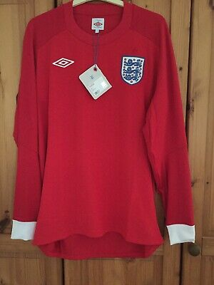 "New With Tag England Football Shirt Jersey Trikot Maglia for men size 42""Umbro"
