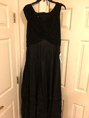 NWT Size 16 Black Gown by Patra V-Neck , Ball, Mardi Gras, Wedding, Bride Mother (Mardi Gras Ball Gowns)