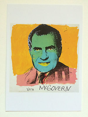 ANDY WARHOL, 'Vote McGovern' art card, British Museum, London, 2017