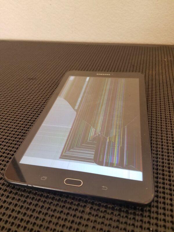 "Samsung Galaxy Tab E 8"" 16gb Tablet, Sm-t377p, Black, Sprint Cracked"