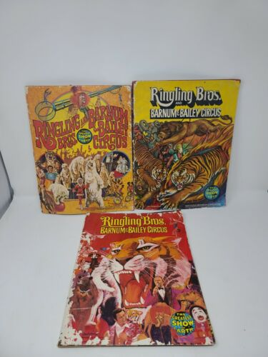 3 Ringling Bros and Barnum & Bailey Circus Souvenir Program 101,106th Ed. 1970