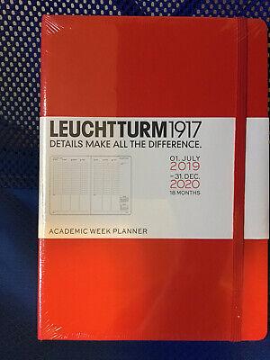 Leuchtturm 1917 Academic Week Planner Hard Cover.can Use As A Journaldiaries.