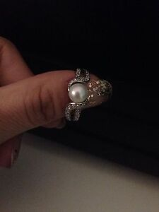 Silver Pearl Ring  London Ontario image 1