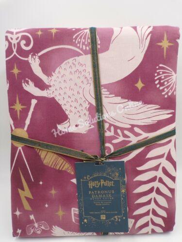 Pottery Barn Teen Harry Potter Patronus Damask Duvet Cover King #G43