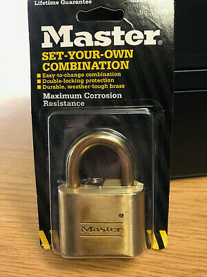 Brand New Master Lock No. 175bd Resettable Combination Padlock