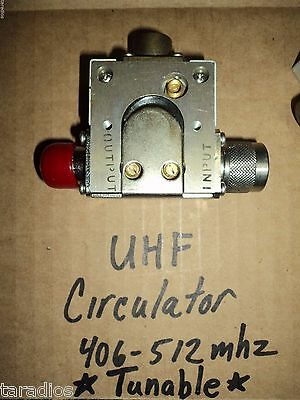 New TUNABLE UHF CIRCULATOR 406 - 512 MHZ M/A-COM ~ 125 Watt Isolator With LOAD