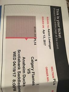 2 Calgary Flames tickets Game 4