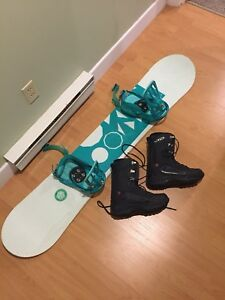 Snowboard and Bindings