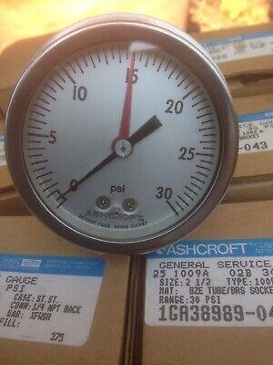 Ashcroft Industrial Gauge 0-30 Psi