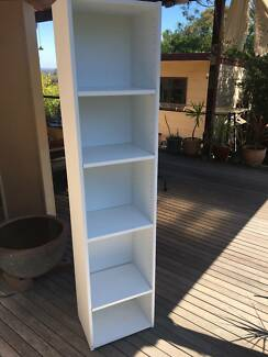 book shelf ,white colour,lamineted timber, good quality