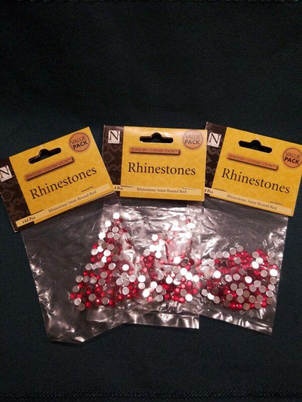 Nicole 5mm Round Red Rhinestones