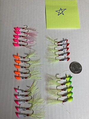 "Bass Assassin 6/"" 20ct Red Shad Green Glitter"