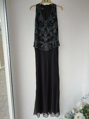 Beautiful J KARA New York Black Evening Dress with beaded top size 10