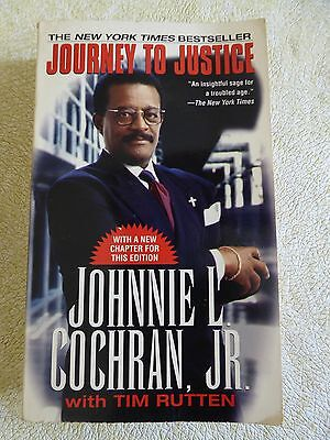 Journey To Justice By Johnnie L  Cochran  Jr    1997 Paperback