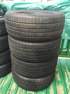 4 Continental Contact M+S tires 255-55R18