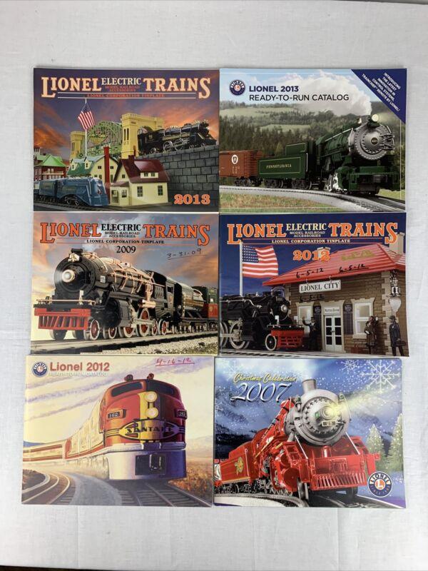 LOT OF 6 VINTAGE LIONEL TRAIN CATALOGS 2007-2013 MODEL TRAIN CATALOGS