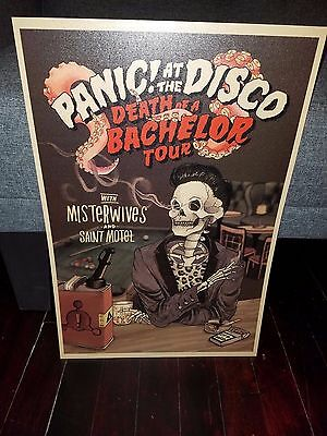 107 Panic! At the Disco tour poster 2017 Death Of A Bachelor tour Panic