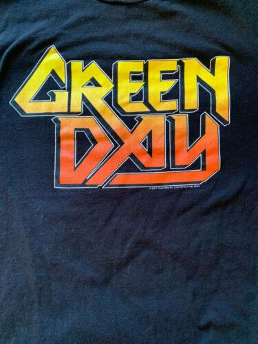 GREEN DAY Logo Billie Joe Armstrong Tre Cool  2007 Concert Tour XL T SHIRT