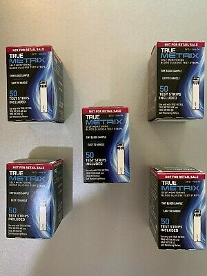 TRUE Metrix Blood Glucose TEST STRIPS 250 COUNT. EXP 02/2022, FAST FREE shipping
